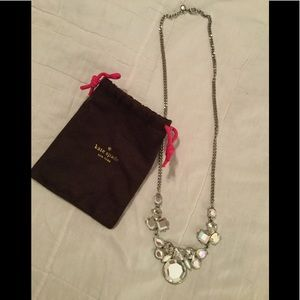 Kate Spade New York necklace crystal jewels silver